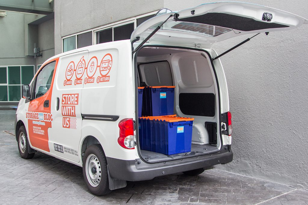 On Demand Storage Bloc Van